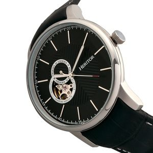 c2ddf6342 Heritor Automatic Accessories   Nwt All Black Mens Automatic Watch ...